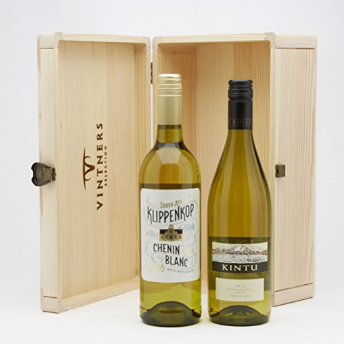 Hay Hampers South African Wine Duo White and Red in Wooden Box