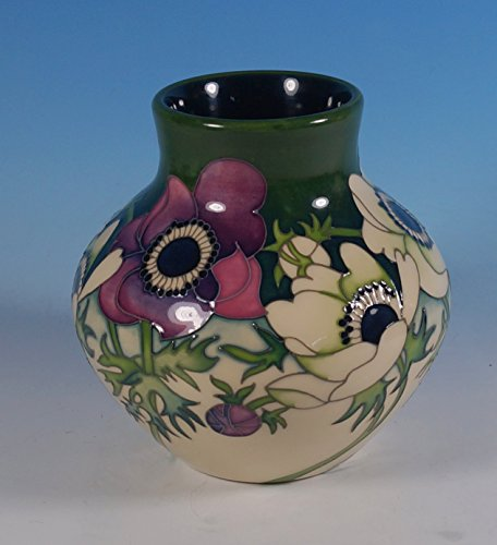 A Moorcroft I Am Not My Father Him And Her Anemone Flowers Vase 1st Rrp £350