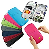 PETRICE Travel Long Passport Holder Wallet Case for Credit Debit Card Ticket Coins