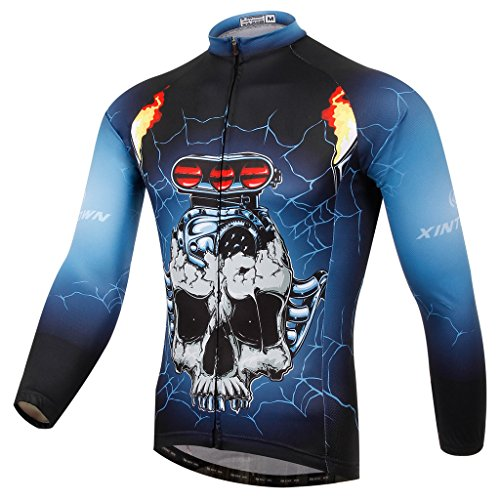 Spoz Men Cycling Sugar Skull Sportwear Jersey Top XXL