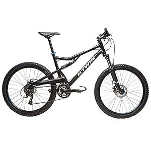 Btwin Rockrider 500 Mountain Bike, Large (Black)