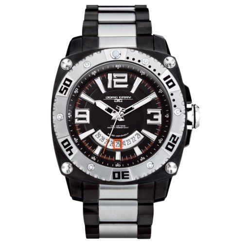 Jorg Gray - JG9800-23 - Montre Homme - Quartz Analogique - Bracelet Acier Inoxydable Noir