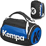 Kempa Sporttasche mit Rucksack-Funktion K-LINE schwarz/blau 58 x 32 x 32 cm, 60 L