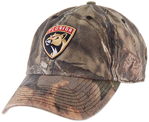 NHL Florida Pantshers Male Mossy Oak OTS Challenger Adjustable Hat, Mossy Oak-Blades, One Size - World Baseball Fitted Hat Cap