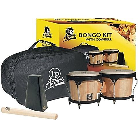 LP Latin Percussion LP810600 Aspire Bongo Kit Naturale 500-AW