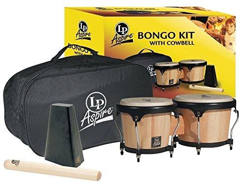 LP Latin Percussion LP810600 Aspire Bongo Kit Natural 500-AW