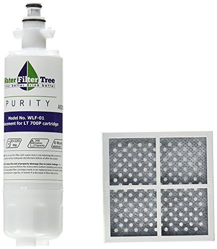 Twin Pack Set-2x wlf-01LG Ersatz Filter für LG LT700P + 2x lt120F Fresh Air Filter - Lg Kühlschrank Filter Air