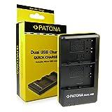 PATONA Dual Chargeur EN-EL3E pour Batterie Nikon D700 D300 D200 D100 D90 D80 D70 D50 avec micro USB