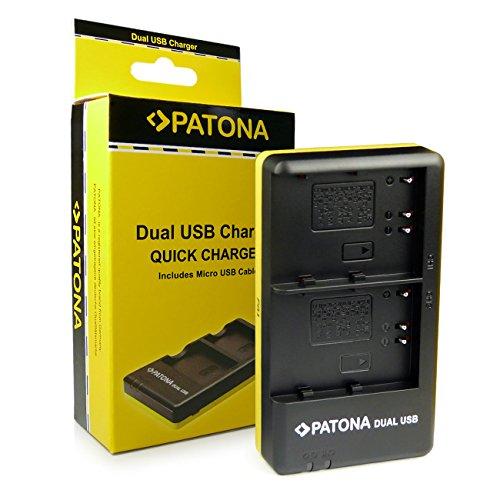 PATONA Dual Schnell-Ladegerät Nikon EN-EL3E für Nikon D700 D300 D200 D100 D90 D80 D70 D50 inkl. Micro-USB Kabel