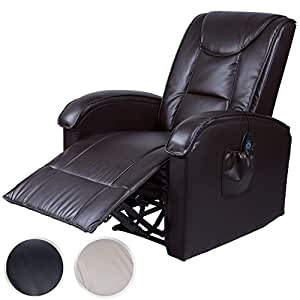 miadomodo fernsehsessel relaxsessel mit w rme massagefunktion massagesessel mit fernbedienung. Black Bedroom Furniture Sets. Home Design Ideas
