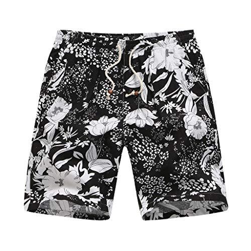 Herren Mode Drucken Strand Spleißen Multi-Pocket Overalls Shorts Fashion Hosen