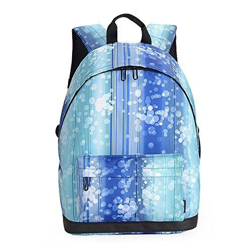Mefly College vento Computer zaino borsa zaino alla moda Pentas Lanceolata Blue suit