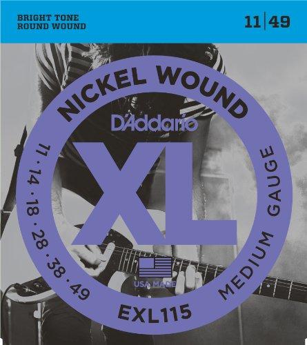 D'Addario EXL115 Satz Nickelsaiten für E-Gitarre 011' - 049'  Blues/Jazz Rock