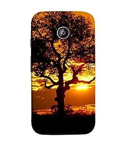 PrintVisa Designer Back Case Cover for Motorola Moto E2 :: Motorola Moto E Dual SIM (2nd Gen) :: Motorola Moto E 2nd Gen 3G XT1506 :: Motorola Moto E 2nd Gen 4G XT1521 (Beautiful superb golden black photo design)