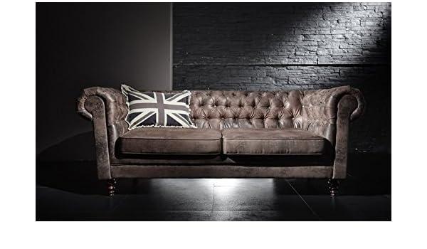 esssofa logan retro couch polstergarnitur sofa chesterfield knpfe vintage gnstig amazonde kche haushalt - Esssofa