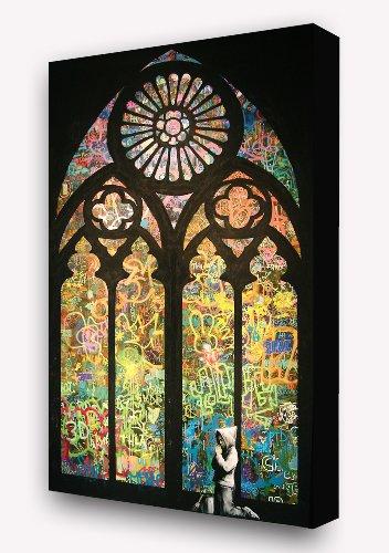 plastifie-banksy-gansgta-boy-praying-in-graffitti-church-petit-ganster-qui-prie-a-leglise-en-graffit