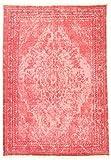 Trendcarpet Teppich 170 x 240 cm (baumwollteppich) - Milas (rosa) Größe 170 x 240 cm
