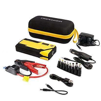 51kCP7L2tOL. SS416  - Arrancador de batería portátil para coches DBPOWER® 500A 12000mAh, batería de emergencia, doble puerto USB, linterna LED y brújula.