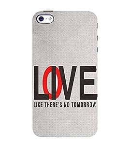 FUSON Love Live No Tomorrow 3D Hard Polycarbonate Designer Back Case Cover for Apple iPhone 4S