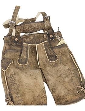 Alfons Rustik Natur Tolle kurze Lederhose mit Stegträger