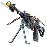 #1: MW Toyz Rapid Fire Combat Machine Gun, Realistic Toy Rifle Replica With Lights And Sounds For Army, Spy, Soldier, Assassin Game Play