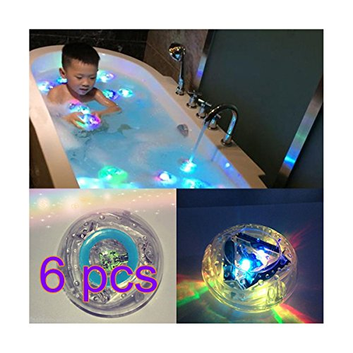 fwehfefh Party in der Wanne Kinderbadewanne leuchtet schwimmende wasserdichte bunte LED-Leuchten Spielzeug (bunt1)