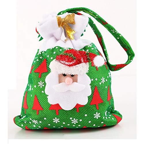 Dewanxin 20 x 24 cm Niedliche Weihnachten Geschenk Taschen, Handtaschen Tasche, Weihnachtsbaum Geschenk Taschen, Santa Claus Cookie Candy Geschenk Beutel Party Vorräte für Kid Kinder (Style B) (Lego Taschen Candy)