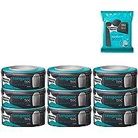 Tommee Tippee - SANGENIC- Lot de 9 recharges pour poubelle + 30 Lingettes antibactériennes OFFERTES !!