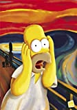 1art1 40763 The Simpsons - Homer, Der Schrei Poster (91 x 61 cm)