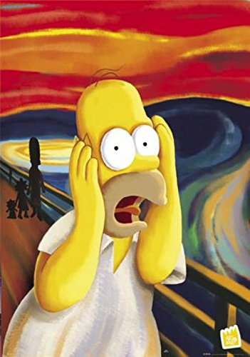 "1art1 40763 Poster ""I Simpson - Homer - L'urlo"" 91x61 cm"