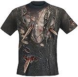 Spiral Zombie Wrap T-Shirt Schwarz L