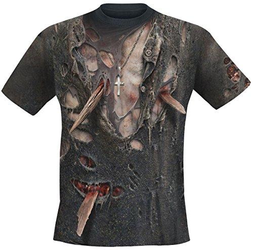 ZOMBIE Fotorealistisches T Shirt Fotodruck M XL Herren Horror L