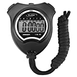 Mudder Digital Sport Stopwatch Timer with Large LCD Display, Black
