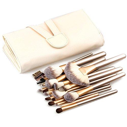 ABBY 24 pinceaux de maquillage Modèles Hot manche de la brosse à champagne set Brush Ensemble Professionnel 24 pièces de Pinceaux pour Maquillage avec Étui Blanc