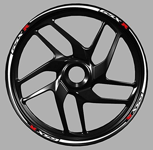 Adesivi cerchi moto Suzuki Gsx-r gsx r 600 750 1000 wheel strip sticker