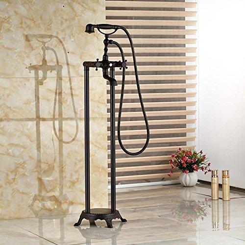 Gute Qualität, Badezimmer Badewanne Armatur montieren Mixer mit Griff mit Handdusche Whirlpool Füller,Schwarz
