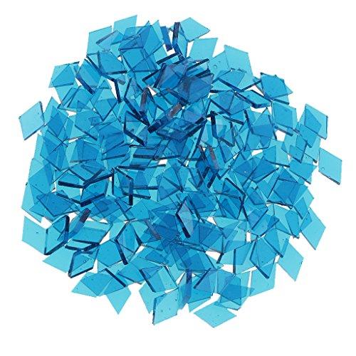 Sharplace Großhandelsposten Mosaik-Stücke aus Glas, Mosaik-Fliesen, Mosaiksteine zum Basteln, für Kunsthandwerk, als Dekoration, verschiedene Formen, Größen und Farben , navy, 10mm x 10mm rhombus