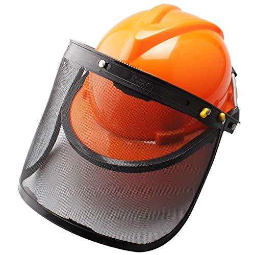 Schutzhelm Arbeitshelm Mäherschutzmaske Explosionsgeschützte Maske Helmstange Bildschirm Helm Spritzschutzmaske GUOF Bauarbeiterhelm mit Belüftung a (Color : Yellow)