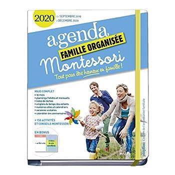 Agenda Montessori de la famille organisée 2020 : S'organiser n'a jamais été aussi simple !(de septembre 2019 à décembre 2020)