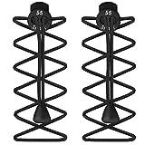 Elastische Schnürsenkel mit Schnellverschluss, für Laufen / Triathlon, - Black (3 Pack) - Größe: One Size