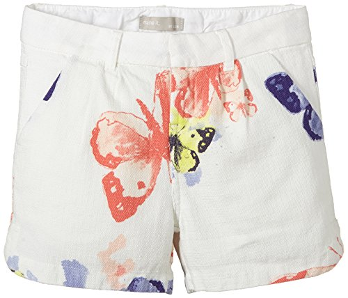 NAME IT - Himanna Kids Pantaloncini 215, Pantaloncini per bambine e ragazze, Bianco (Cloud Dancer), 128 (Taglia produttore: 128)