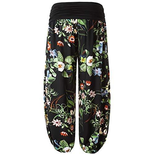 Lazzboy Womens Plus Size Print Damen Harem Volle Länge Hosen Breite Leggings...