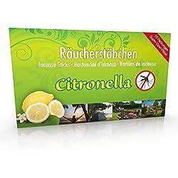 10 paquetes de incienso Citronella Anti Mosquito, tiempo de combustión aprox. 60h (total). Oferta de ahorro como alternativa a las velas de citronela o candelitas para exterior o en el jardín.