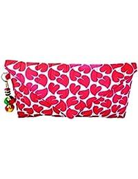 Nicedesign Designer Red Color Floral Printed Women's Clutch Wallet Purse