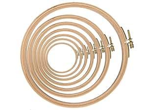 Couture Loisirs - Tambour Cercle À Broder Bois Diamètre 185 mm