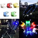 Gladle Baby Kinderwagen Kinderwagen im Freien wasserdicht LED-Blitz-Nacht erinnern Lichter (zufällige Farbe)