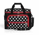 PRYM Nähmaschinen Tasche Polka Dots, schwarz/rot/weiß