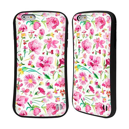 Head Case Designs Offizielle Ninola Rosafarbene Blume-Knospen Botanisch Hybrid Hülle für iPhone 6 Plus/iPhone 6s Plus