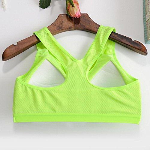 Soutien-gorge de sport,Tonwalk Yoga Fitness Entraînement Sans couture Tank Tops Vert