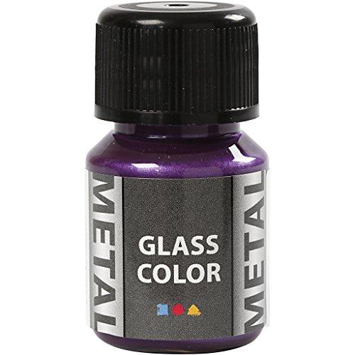 Creativ Company Glasfarbe Metal, 35 ml, Lila - Glasmalerei Lila